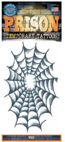 Tatoeage Spinnenweb (9x15cm)