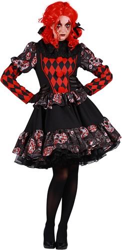 Luxe Dameskostuum Horror Clown