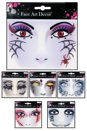 Halloween Face Art (assorti)