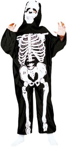 Kinderkostuum Skelet Zwart/Wit