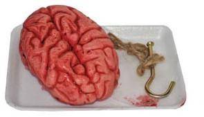 Bebloede Nep Hersenen op een schaaltje