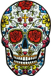 Applicatie Sugar Skull (12x8,5cm)