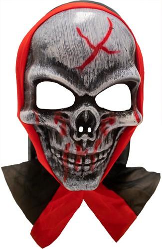 Masker Halloween Bloody Skull met Kap (plastic)
