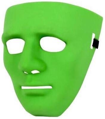 Anonymous Halloween Masker Groen (plastic)