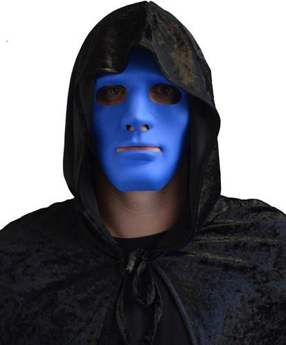 Anonymous Halloween Masker Blauw (plastic)