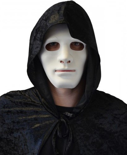 Masker Halloween Anonymous Wit (plastic)