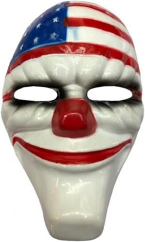 Masker Halloween Clown The Purge USA (plastic)