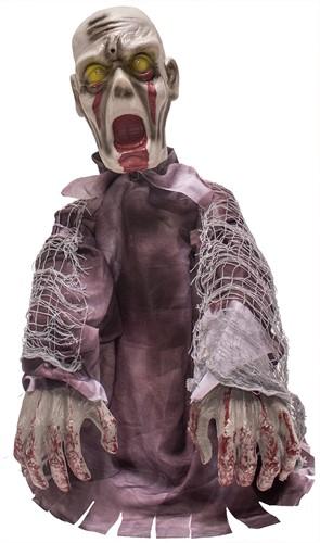 Enge Zombie Halloween Decoratie met Bewegingssensor (55cm)