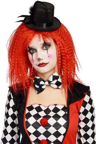 Pruik Horror Clown Rood Gewafeld