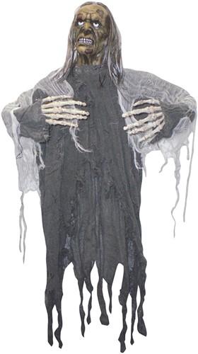 Decoratie Zombie Grijs met jute (90cm)