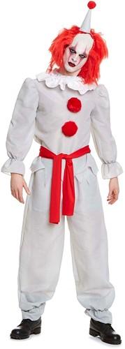 Grijze-Rode Griezel Clown voor Heren