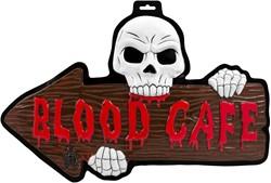 Halloween 3D Deurbord Blood Cafe
