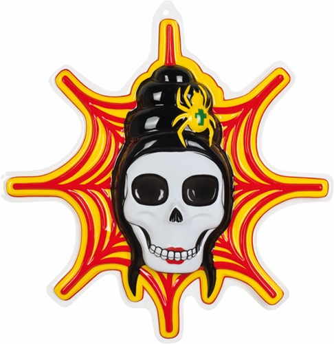 Wanddeco Skull+Web PVC 55X40cm