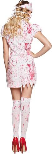 Halloweenkostuum Bloody Nurse voor dames (4-delig)-2