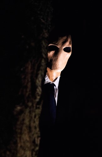 Masker Slender Man Latex Luxe-2
