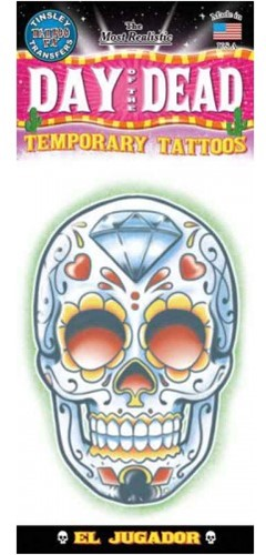 Tatoeage Schedel Day of the Dead