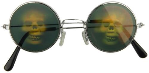 Holografische Bril met Doodshoofden