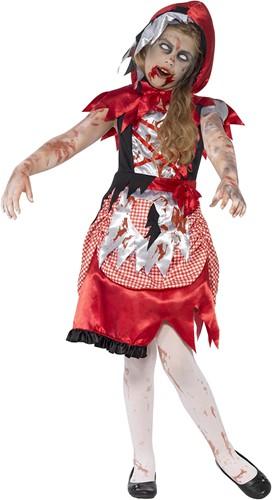 Halloweenkostuum Roodkapje  Zombie  voor meisjes