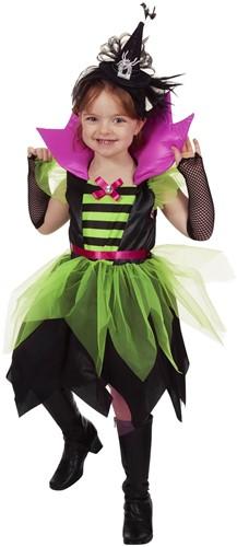 Meisjesjurk Heks Groen/Zwart
