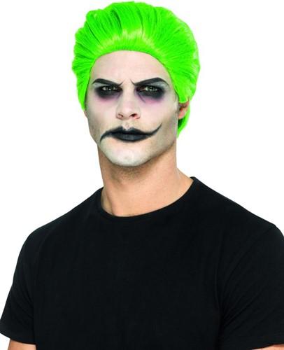 The Joker Pruik Groen