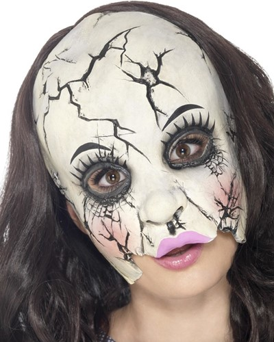 Porceleinen Pop Masker Gebroken (latex)