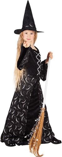 Midnight Witch Heksenjurk voor meisjes (met hoed)