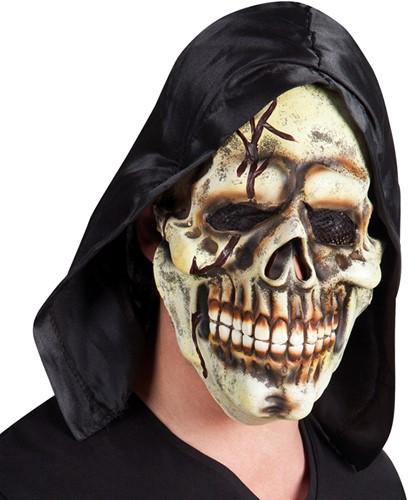 Latex Skull Masker met kap