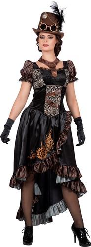 Luxe Dames Steampunk Jurk Zwart