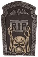 Decoratie Grafsteen Skull RIP met LED (54cm)