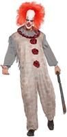 Herenkostuum Vintage Clown Grijs/Rood-2