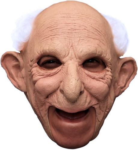 Kinloos Masker Abraham - Opa Gus Latex met haar