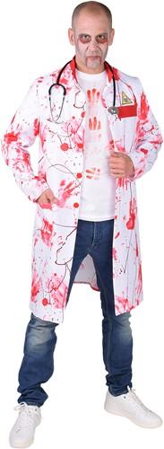 Heren Halloween Doktersjas (met Bloedvlekken)
