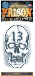 Tatoeage Doodshoofd (7x13cm)