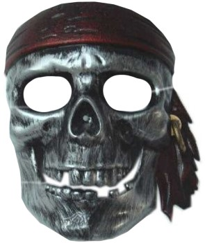 Piraten Masker Zilver