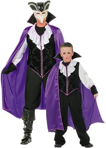 Halloweenkostuum Gothic Man Paars