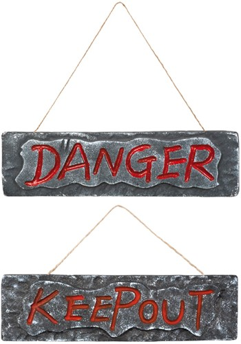 "Deurbord ""KEEP OUT"" (10x35cm)"