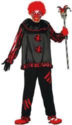 Halloweenkostuum Killer Clown Zwart/Rood
