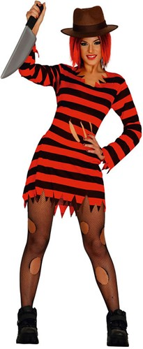 Damesjurk Miss Freddy Krueger