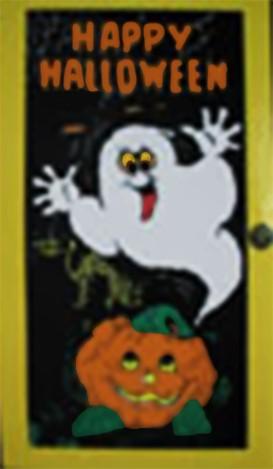 Deurdecoratie Happy Halloween
