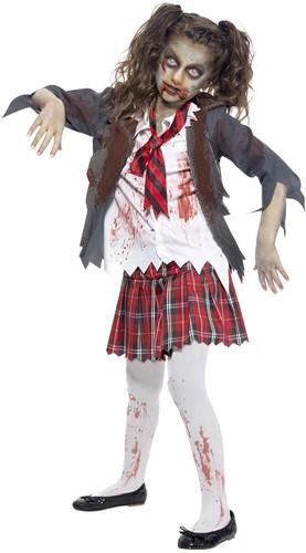 Halloweenkostuum Zombie Schoolmeisje Uniform