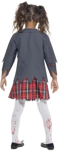 Halloweenkostuum Zombie Schoolmeisje Uniform-3