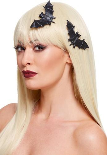 Haarclips Halloween Vleermuis - 2st