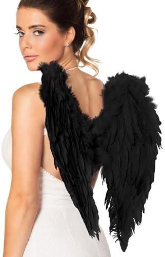 Engelenvleugels Zwart (50x50cm)