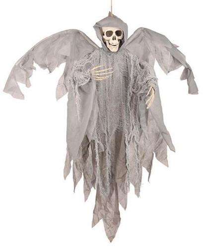 Hangdecoratie Skull met Vleugels (90cm)
