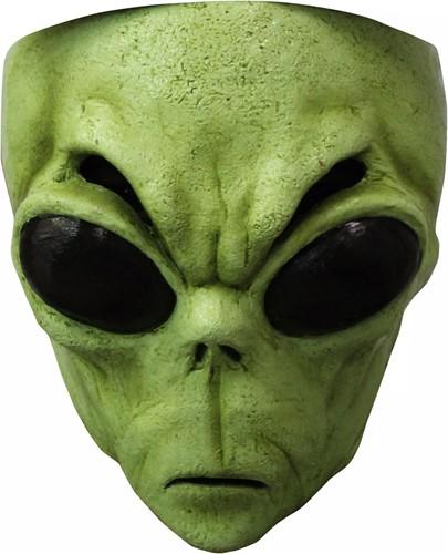 Masker Alien Groen (gezichtsmasker)| Halloweenland