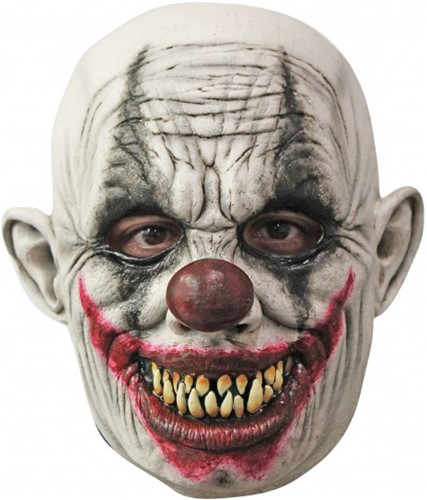 Latex Masker Creepy Grinning Clown