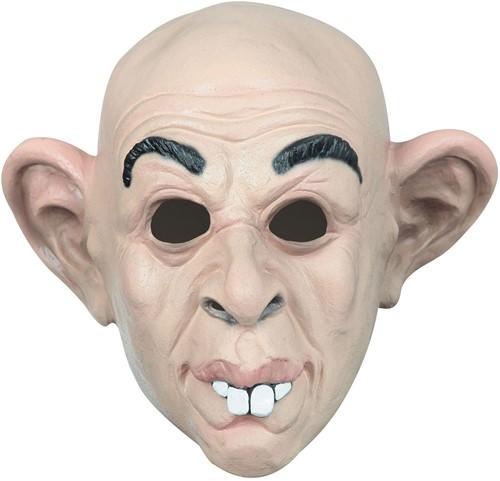 Latex Masker Oude Kale Man met Flaporen