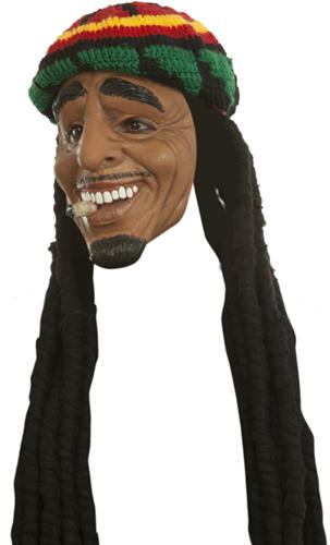 Luxe Masker Rasta met Muts (latex)