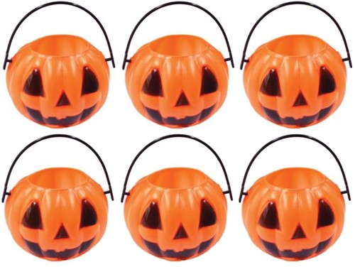 Mini Pompoen Emmer Rond Oranje (6 stuks)