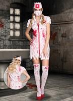 Halloweenkostuum Bloody Nurse voor dames (4-delig)-3